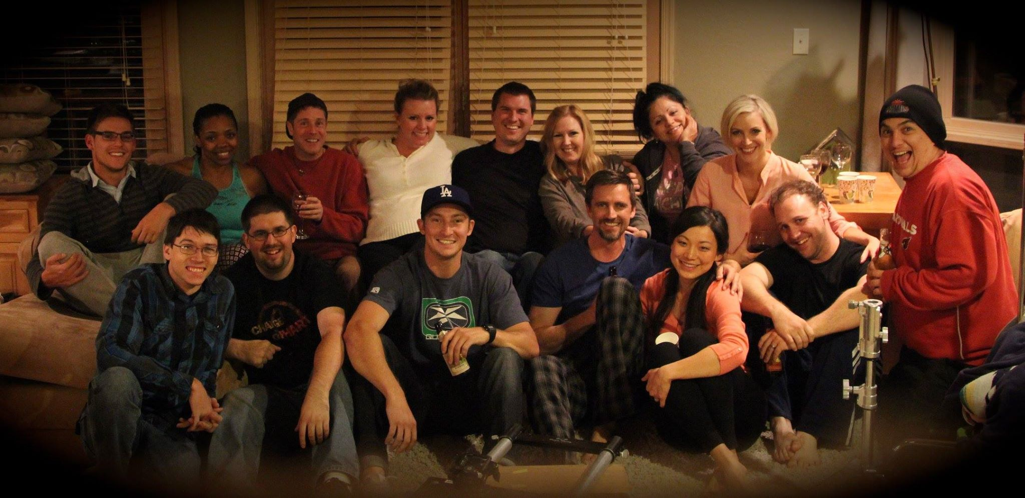 The entire production cast and crew after the final day of filming. Exhausted, but fulfilled.